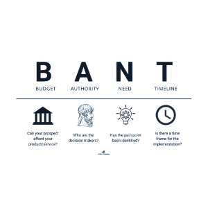 Budget, Authority, Need, Timing(BANT)