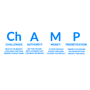 (H3)Challenges, Authority, Money, Prioritization (CHAMP)