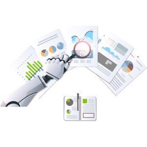 reveals reviewing data concept